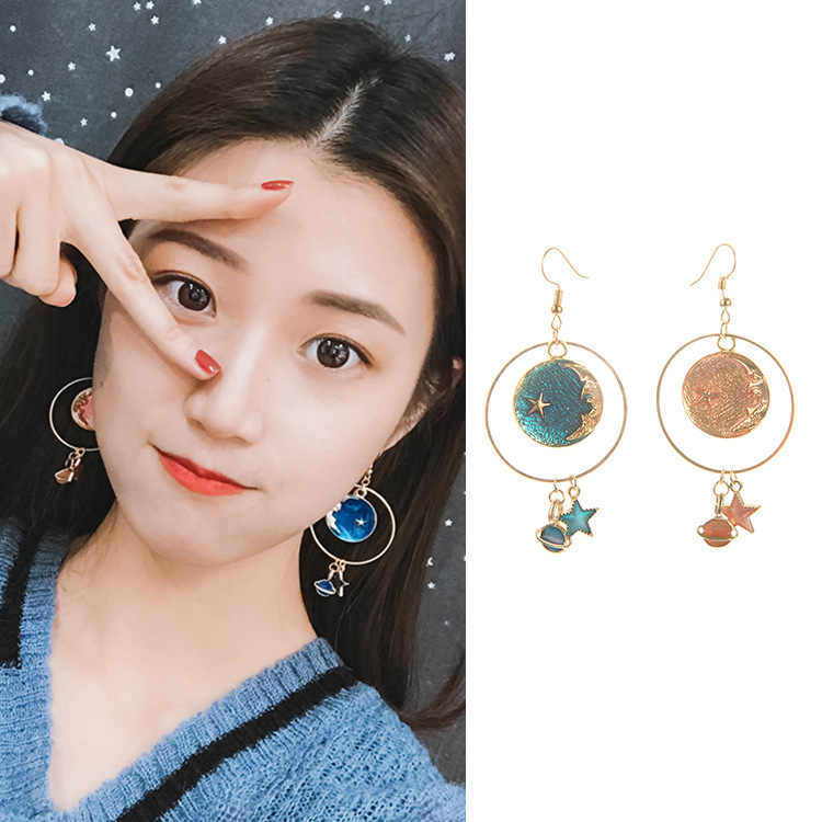 Hot style star earrings dream star moon personality temperament earrings wholesale gifts