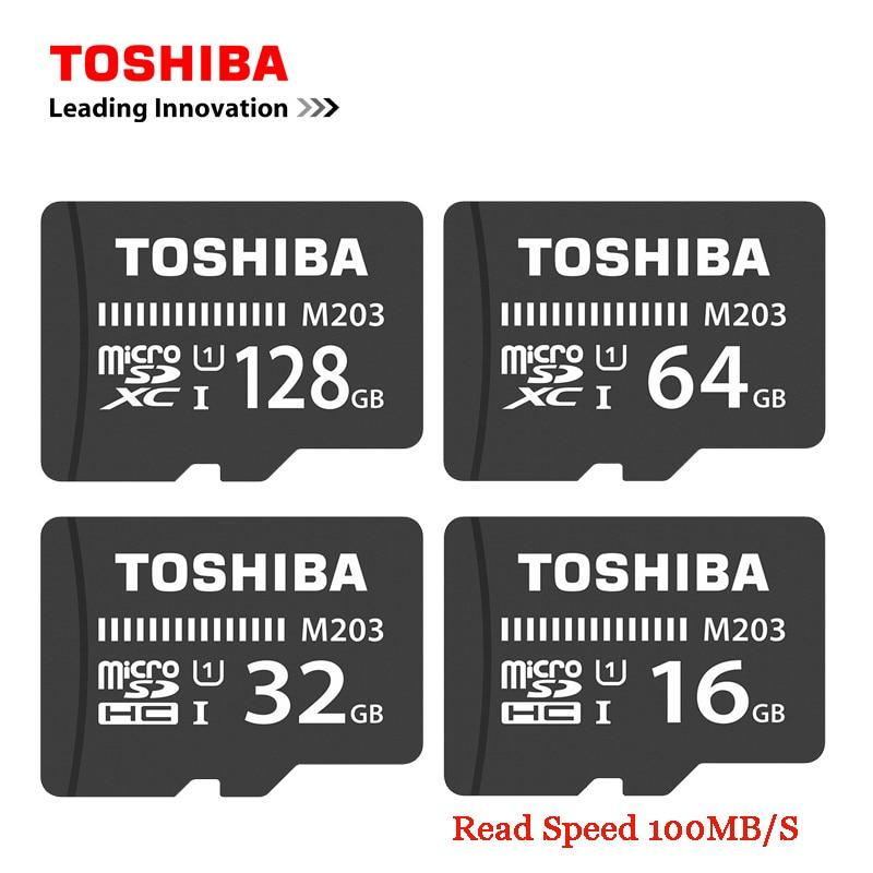 TOSHIBA Flash Memory Card M203 100MB/S Microsd Card UHS-I 128GB 64GB SDXC 32GB 16GB SDHC U1 Class10 FullHD TF Card For Android