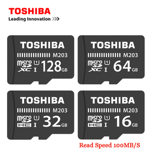 TOSHIBA Flash Memory Card M203 100MB/S Microsd Card UHS-I 128GB 64GB SDXC 32GB 16GB SDHC U1 Class10 FullHD TF Card For Android