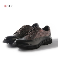Men Casual Luxury Brand Flats Genuine Leather Black Formal Dress Wedding Brogues Shoes Zapatos Hombre Wingtip