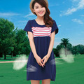 Newest Summer Maternity Dress Maternity Striped Casual Dress Pregnancy Clothing Fashion Cotton Clothes for Pregnant Women