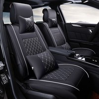 Leather Universal Car Seat Covers For Great Wall Hover H3 H6 H5 M42 Tengyi C30 C50 car accessories car styling seat cushion