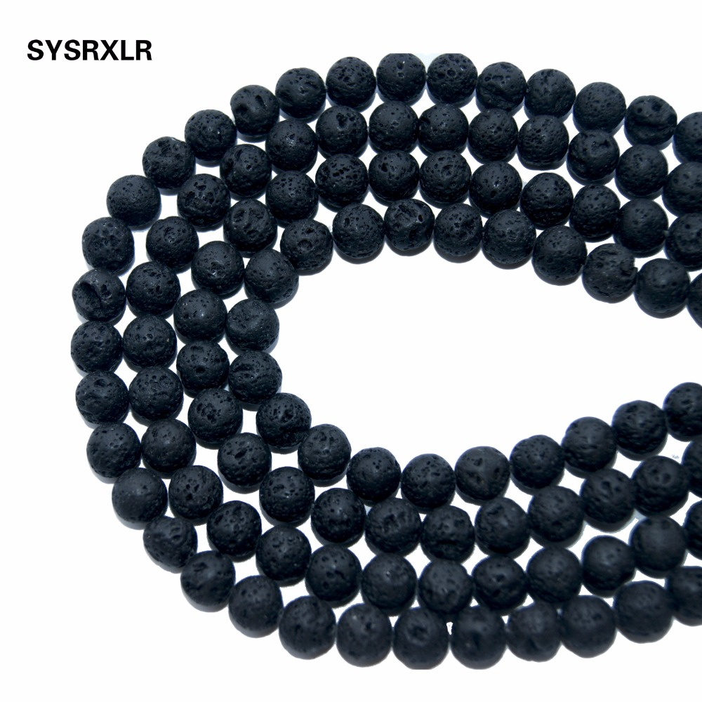 Necklace Ruble Volcanic Material