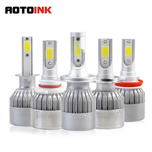 AOTOINK Car Headlight C6 H7 LED H4 H1 H3 H8 H9 H11 H13 H27 880 9004 9005 9006 9007 8000LM Auto Headlamp 6500K Light Bulb EA