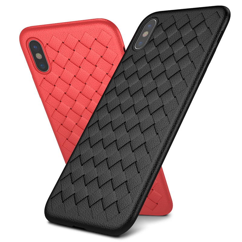For Iphone X 8 7 6 6s Plus Summer Breathable Heat Mobile Phone Silicone Woven Soft TPU Protective Cover For Apple X 8 7 6 plus