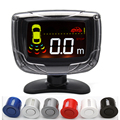 Auto Parking Sensor 4 Sensors 22mm Buzzer LCD Kit Display Car Reverse Backup Radar Monitor System.