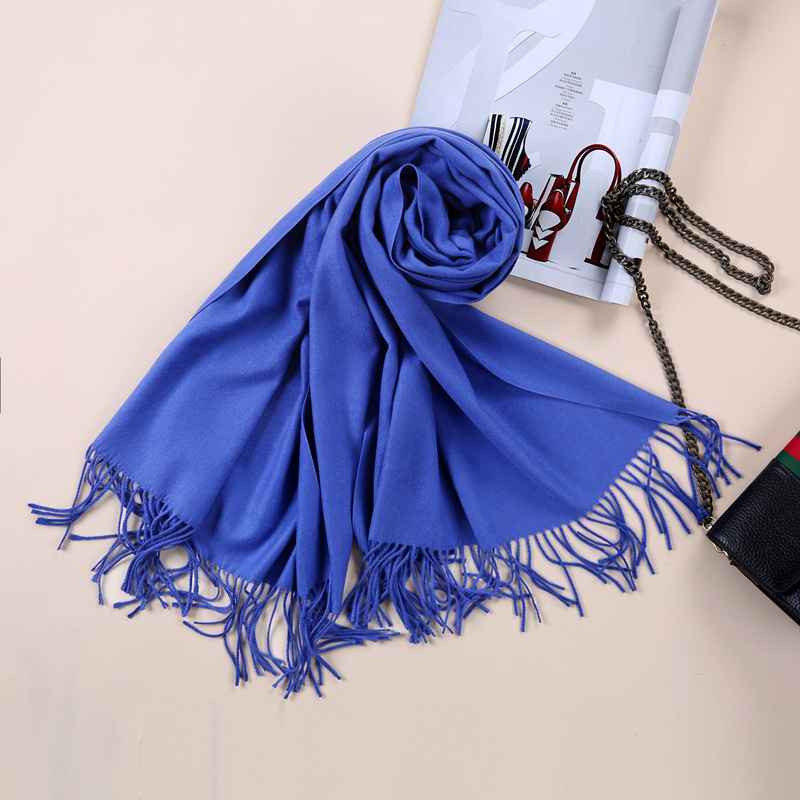 2017 Shawls and Scarves Cashmere Cape Plain Winter Warm Scarf Luxury - Apparel Accessories - Photo 4