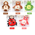 Fancytrader Giant Sleeping Bag Soft Plush AnimalFrog Bear Monkey Beetle Cat Beanbag Bed Carpet Tatami Sofa Mat 3 Models