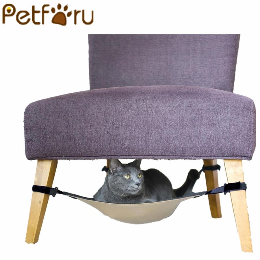 Petforu katze hängematte Warme Weiche Hängen Bett Katze Matte Kätzchen bett Pad Haustier Katze Bett für Kleinen Hund Welpen
