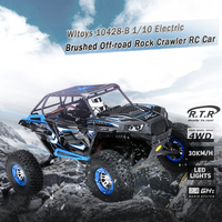 Новый Топ RC автомобиль для восхождения 10428 b 1:10 41 см 2.4 г 4WD 30 км/ч матовый электрический RC внедорожных рок гусеничный автомобиль с светодиодны