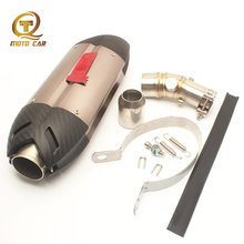 Exhaust Motorcycle Muffler 51MM Stainless Steel Mid Link Pipe Dirt Bike Escape Moto For Kawasaki Ninja ER6N MIVV Exhaust Systems