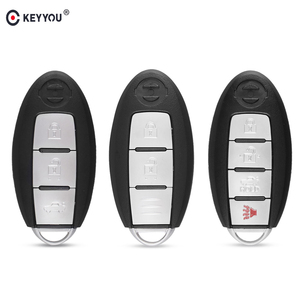 KEYYOU Smart Remote Key Shell Case 2 3 4 Buttons For Nissan Rogue Teana Sentra Versa Fob Car Key Cover Keyless Entry With Blade(China)