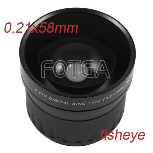 лучшая цена High quality Fotga 58mm 0.21X Fisheye Lens for Canon Nikon Sony DSLR free shipping