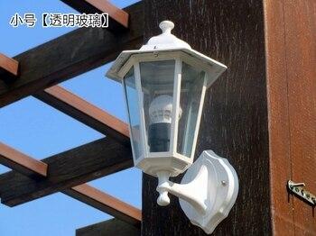 Europejska Zewnętrzna Wodoodporna ściana Lampy Naścienne Oświetlenie Ogrodowe Biały Duszpasterski Balkon Korytarz Na Klatkę Schodową ścienna Lampa LU627101 ZL389