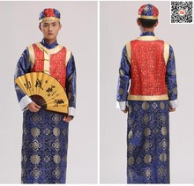 Formal long robe tang suit male evening Classic Robe Fashion For Prince  Two Pcs With Hat Men Chinese Traditional Clothes