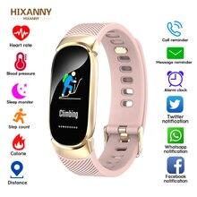 HIXANNY Frauen Smart Uhr  Stepcounter Smartwatch Herz Rate Blutdruck Sauerstoff Monitor Fitness Tracker Rufen Alarm Erinnerung