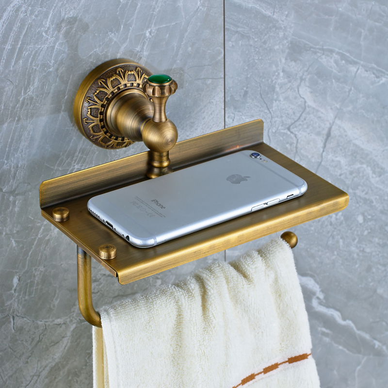 Wholesale And Retail Wall Mounted Bathroom Toilet Paper Holder Solid Brass Antique Brass