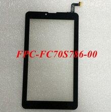 "2 Unids/lote Nuevo 7 ""pantalla táctil FPC-FC70S786-00 FPC-FC70S786-02 FHX Pantalla Táctil de la Tableta Del Panel Digitalizador Del Sensor de Cristal Envío Gratis"