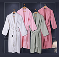 40s/1 Ultrafine 100% cotton bathrobes loop pile long-sleeve sleepwear lovers bathrobe robe