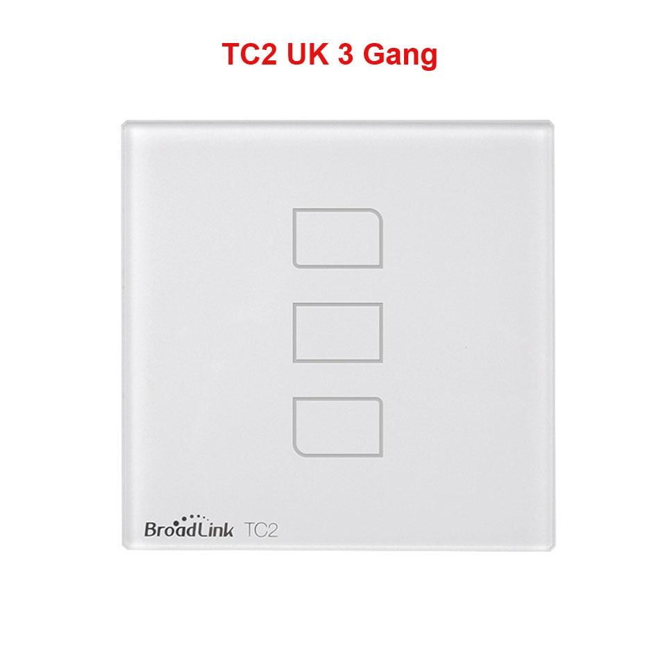 uk standard broadlink tc2 3 gang 1 way wireless smart home. Black Bedroom Furniture Sets. Home Design Ideas
