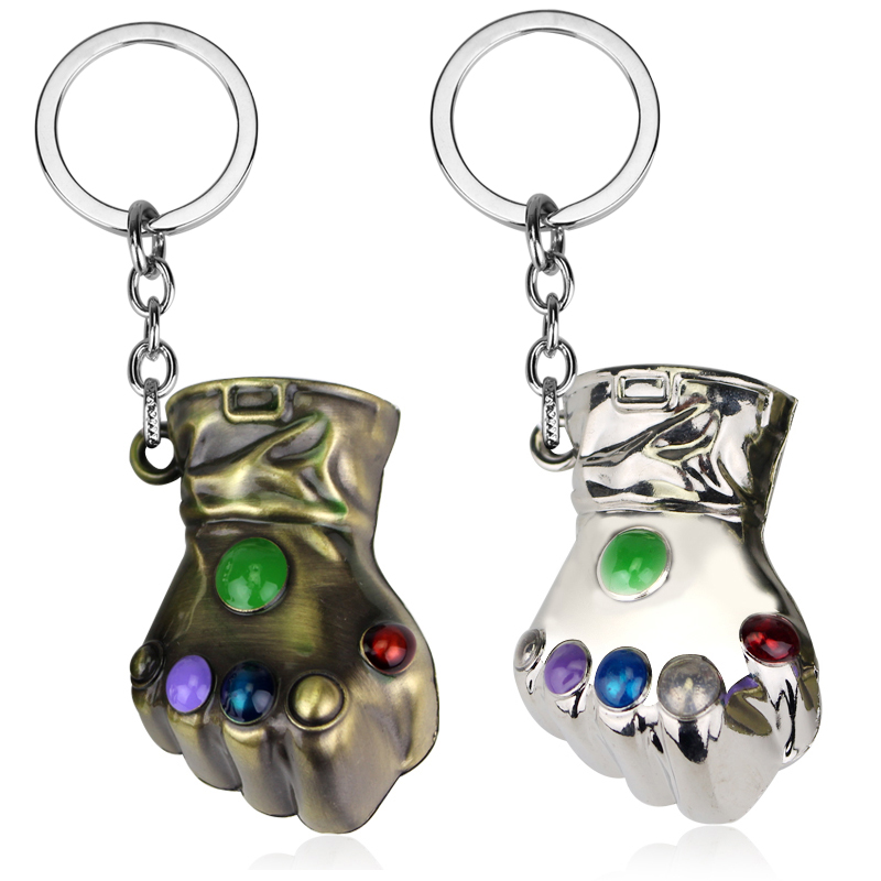 Fashion Marvel Jewelry DC Superhero The Avengers Hulk Fist Keychain