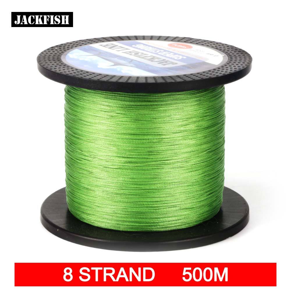 Buy jackfish 500m 8 strand smoother pe braided fishing for Best braided fishing line saltwater