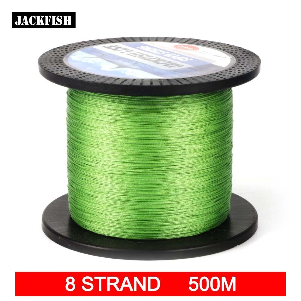 Buy Jackfish 500m 8 Strand Smoother Pe Braided Fishing