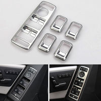 Chrome Window Interior Trim Lift Switch Button Covers Sticker Fit For GLK ML GLA 156 B