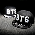 Letter BTS Star Hat Cap hot sale rivet cap baseball hats fitted hat Casual cap panel hip hop hat cap student #70005