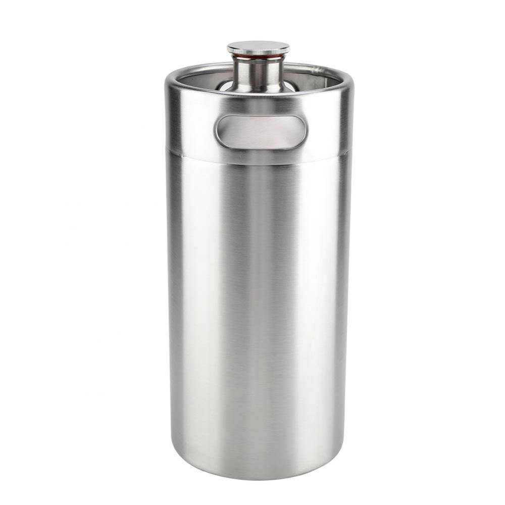 2L Stainless Steel Beer Mini Keg With Pressurized Faucet 15