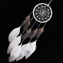Индийский Белый Ловец снов настенные подвесные украшения для автомобиля серебро перо ядро бисера Хранитель снов ручной работы
