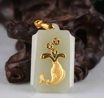 Hot Sales Stylish Fish Jade Pendants For Men Women Discount Necklace Free Shipping - Category 🛒 All Category