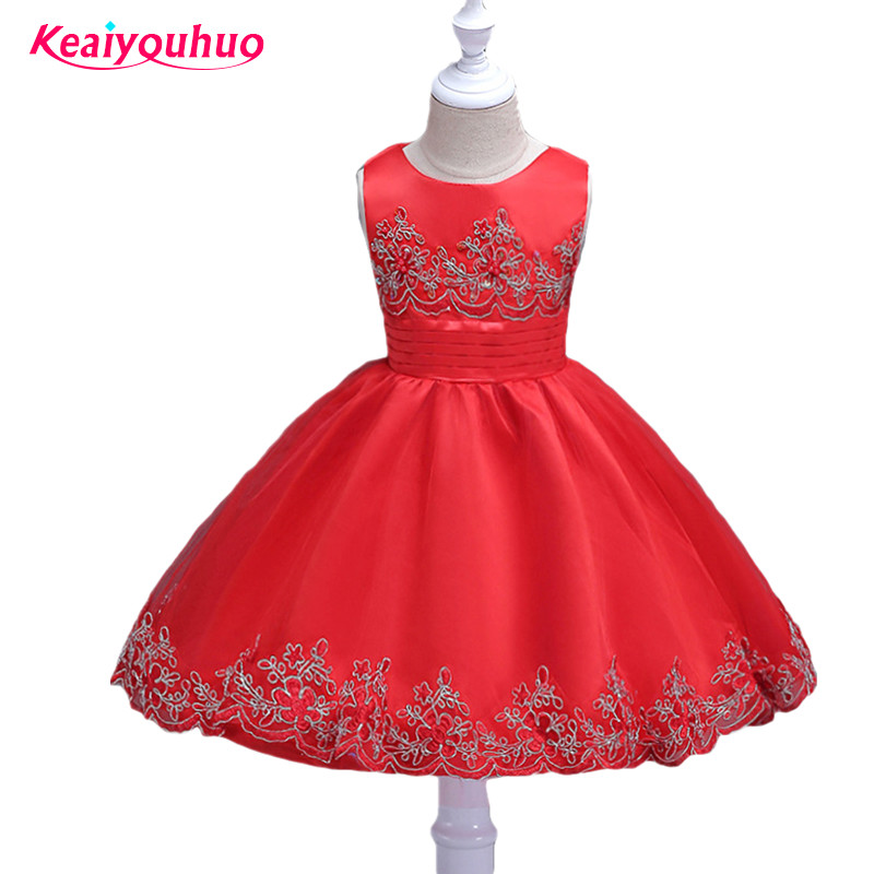 2017 Summer kids clothes for girls dress Embroidered flower princess party costume girl dress vestido 3-10Y Children clothing 2017 new girls dress fashion design princess party dress baby girl fancy costume children clothing kids vestido 3 8t