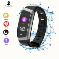 ZoneQuality E18 Smart Bracelet Heart Rate Monitor Fitness Tracker Monitor Life Waterproof Sports Smart Band for Android and IOS