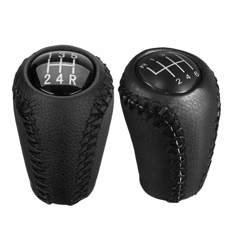 5/6-Speed Gear Shift Knob for MAZDA 3 BK BL 5 CR CW 6 II GH CX-7 ER MX-5 NC III MT Leather Shifter Lever Arm Stick Headball New
