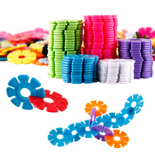 40Pcs/lot DIY Assembling Snowflake Building Blocks Bricks Early Educational Toys Stimulate Kid's Imagination Kids Legoeings Gift цена