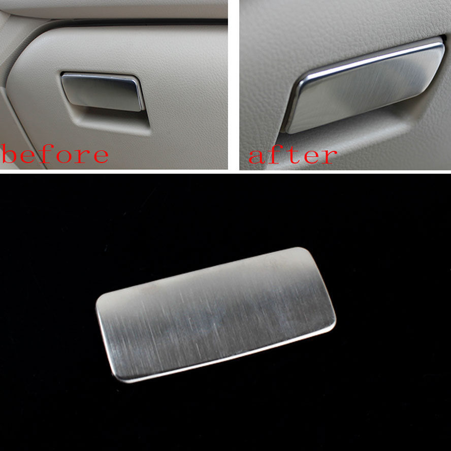 1Pc Stainless Steel Car Interior Glove Box Handle Cover Trim Styling Sticker Fit for Toyota Corolla 2014 Car Accessary