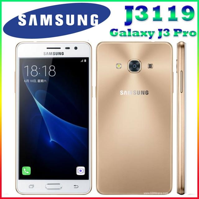 "Original samsung galaxy j3 pro j3110 j3119 5.0 ""2 GB 16 GB ROM 4G LTE Quad Core Snapdragon 410 Teléfono Dual SIM $ number MEGAPÍXELES NFC teléfono Celular"