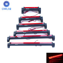 Csrlob 12V Red LED Car Third Brake Light Bar External Light Source Fog Stop Truck Tailgate High Mount Rear Warning Lamp Styling(China)