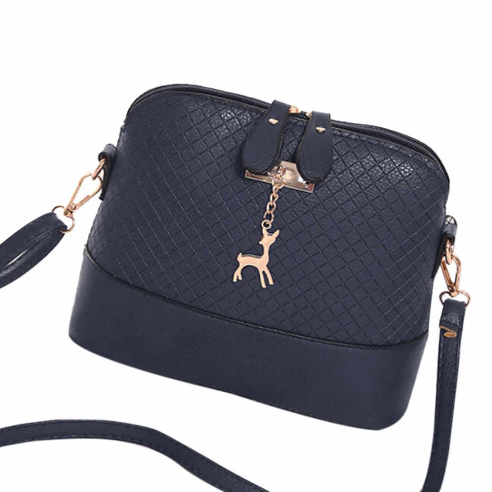 Gran oferta 2019 bolsos de mensajero de moda para mujer Mini bolso con forma de concha de juguete de ciervo bolso de hombro de mujer bolso #25
