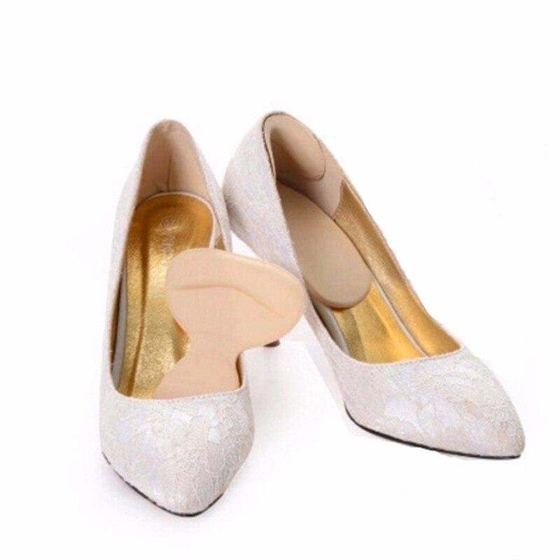 1 Pair Foot Care heels gel pad scholls insoles tools anti-friction heel gel pad slim patch orthopedic shoes for Women