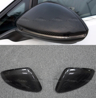 For VW Golf 7 MK7 2014 2018 Car Styling Replacement Carbon Fiber Style Rearview Mirror Cover Trim