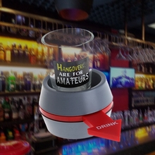 (OOTDTY) 2017 Spin the Shot Drinking Game Turntable Roulette Glass Spinning Fun Party Home APR05_17