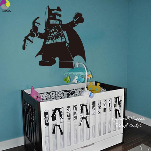 ... Cartoon Lego Batman Wall Sticker Boys Room Baby Nursery Lego Superheros Wall  Decal Kids Children Room