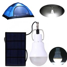 130LM Portable Led Bulb Light Charged Solar Energy Lamp(China)