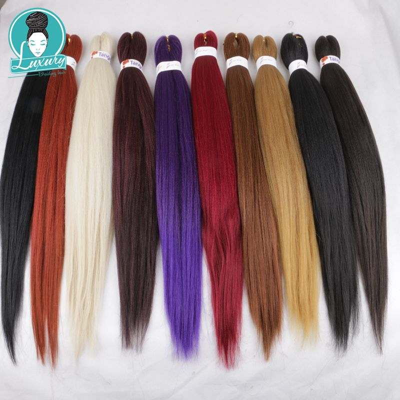 Jumbo Braids Hair Braids Professional Pre-stretched 100% Kanekalon Ez Braid Silky Strands Perm Yaki Texture Itch Free Low Temperature Fiber Large Assortment