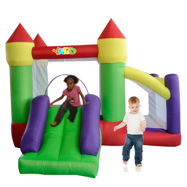 YARD Free Shipping Inflatable Slide Bouncer Cute Air Toy Colorful Bouncy Room Combo For Kids Party