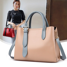 New Fashion Women Messenger Bag PU Leather Girls Top Handle Shoulder Tote Solid Cute Party Handbag Crossbody Wallet