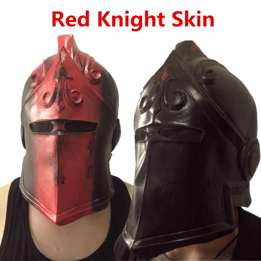 ゲーム黒赤騎士スキンコスプレ衣装マスクハロラテックスマスク