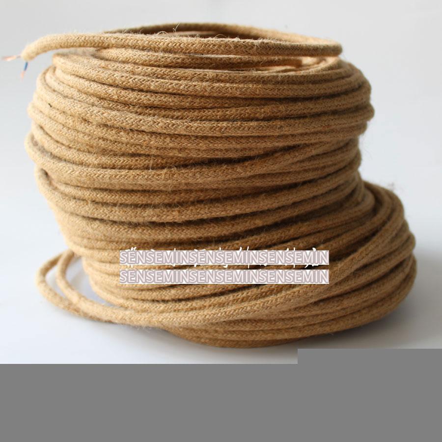 Edison Vintage konopí lano elektrický drátěný lano retro - Osvětlovací příslušenství